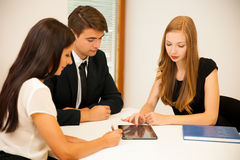 Group of Business people searching for solution with brainstormi Royalty Free Stock Photo