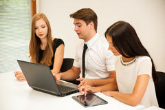 Group of Business people searching for solution with brainstormi Royalty Free Stock Photography