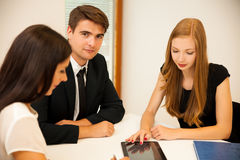 Group of Business people searching for solution with brainstormi Royalty Free Stock Image