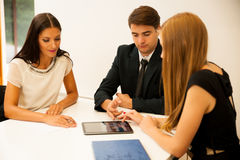 Group of Business people searching for solution with brainstormi. Ng - Team work Stock Photo