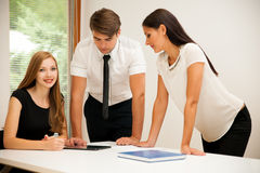 Group of Business people searching for solution with brainstormi. Ng - Team work Royalty Free Stock Photography