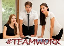 Group of Business people searching for solution with brainstormi. Ng - Team work Stock Photos