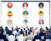 Group of Business People in Seminar Stock Image