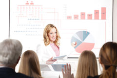 Group of business people at seminar Royalty Free Stock Photos