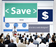 Group of Business People Seminar Save Concept Stock Image