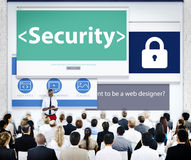 Group of Business People Seminar Security Concept Stock Photo