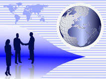 A group of business people shaking hands Royalty Free Stock Images