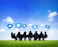 Group of Business People Sharing Ideas Stock Image