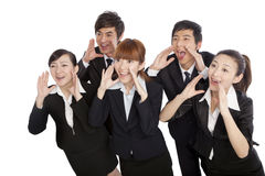 A group of business people shouting Stock Image