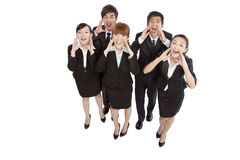 A group of business people shouting Stock Images