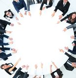 Group of business people sitting at the round table. the business concept stock photos