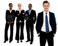 Group of business people smiling Stock Image