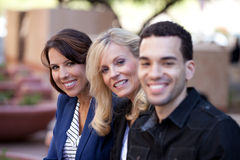 Group of Business People Smiling outside Royalty Free Stock Images