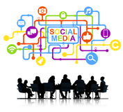 Group of Business People Social Media Stock Images