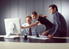 Group business people. Group of some business people working in the open air office stock image