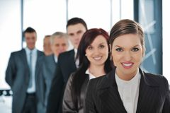 Group of business people standing Stock Photography