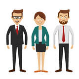 Group of business people standing full length on white Stock Image