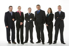 Group Of Business People Standing In A Line Stock Photo