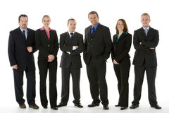 Group Of Business People Standing In A Line Stock Photos