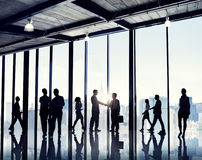 Group Of Business People Standing In A Office Building Royalty Free Stock Image