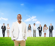 Group of Business People Standing Outdoors Stock Photo