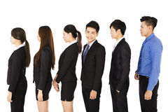 Group of business people standing in row Stock Photography