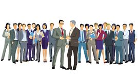 A group of business people are standing together royalty free illustration