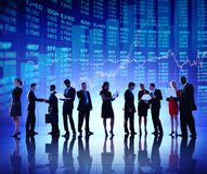 Group of Business People Stock Market Concept Royalty Free Stock Image