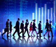 Group of Business People Stock Market Concepts Stock Image
