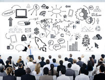 Group of Business People with Strategic Planning Stock Image