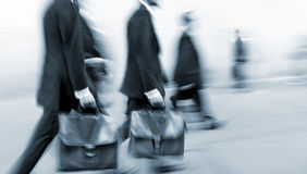 Group of business people in the street Royalty Free Stock Photos