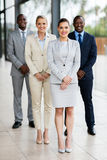 Group of business people. Group of successful business people in modern office royalty free stock photo