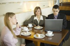 Group of Business People at the Table Stock Image