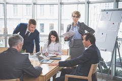 Group of business people are talking royalty free stock photos