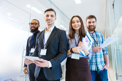 Group of business people with team leader Stock Image