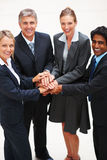 Group of business people with their hands together Royalty Free Stock Photo