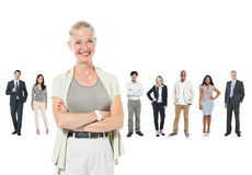 Group of Business People and Their Leader at Front Stock Photos