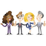 Group of business people thumbs up Stock Images