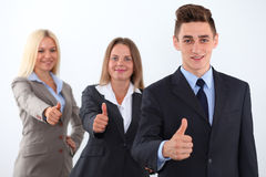 Group of business people, thumbs up Royalty Free Stock Photos