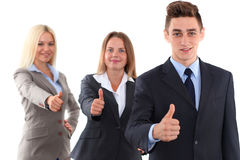 Group of business people, thumbs up Royalty Free Stock Images