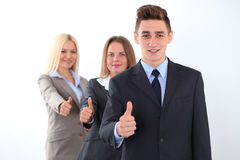 Group of business people, thumbs up Stock Photography