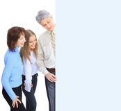 Group of business people to conduct advertising. Stock Photos