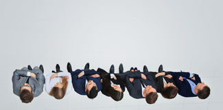 Group of business people together. view from above Royalty Free Stock Photo