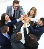 Group of business people together. view from above Stock Photo