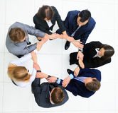 Group of business people together. view from above Royalty Free Stock Photos