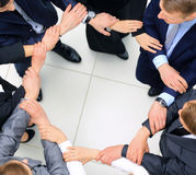 Group of business people together. view from above Royalty Free Stock Image