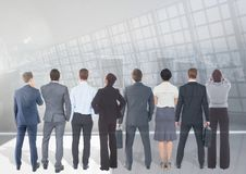 Group of business people with transition background. Digital composite of Group of business people with transition background Stock Photo