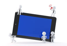 Group of business people using tablet Stock Photography