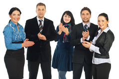 Group of business people walking Royalty Free Stock Images