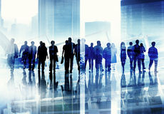 Group of Business People Walking Forward Cityscape Concept Royalty Free Stock Image